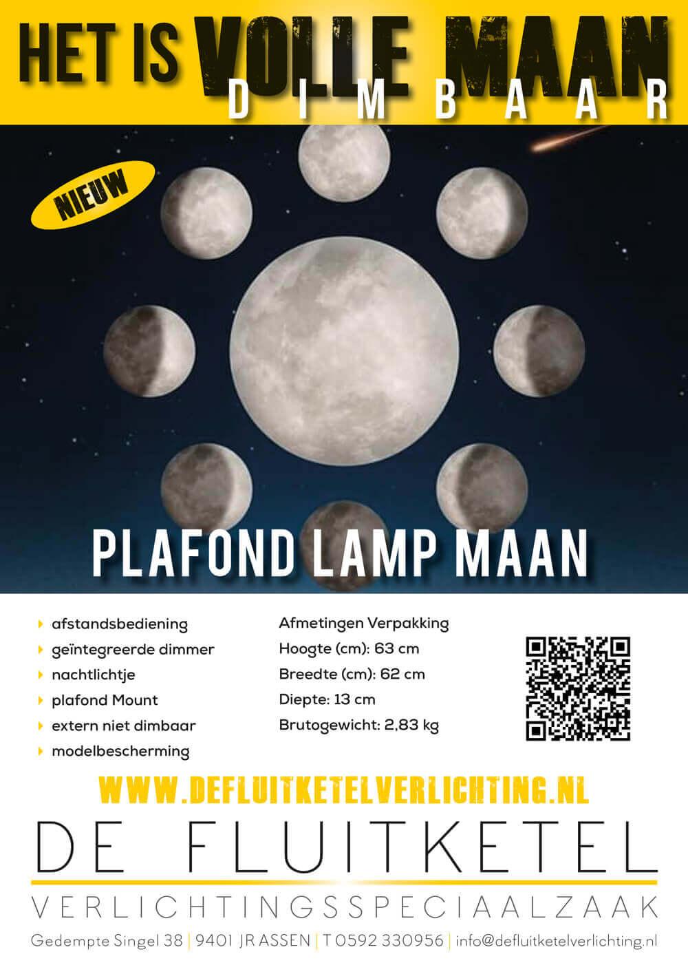De Fluitketel Plafondlamp Maan
