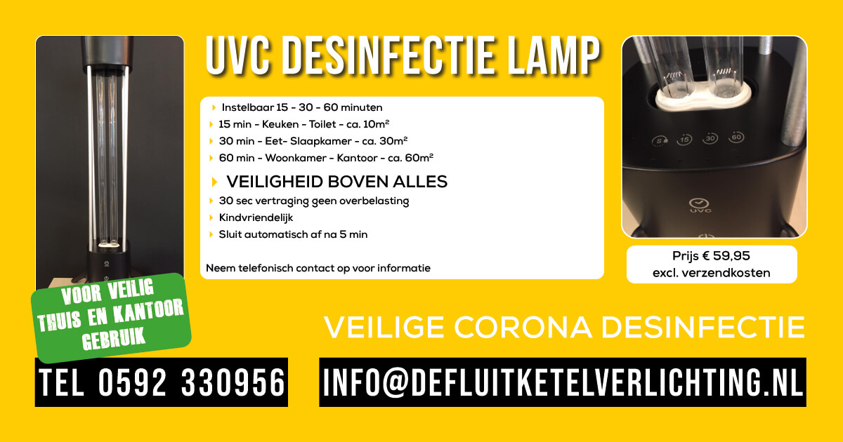 De Fluitketel UVC desinfectie lamp